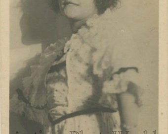 Vera Kholodnaya Russian silent film star antique photo pc