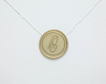 C Letter Wax Seal, monogram, Personalized Envelope Initial Stickers, Peel and Stick Wax Seal, Wedding Bridal Invitations Wedding Favors