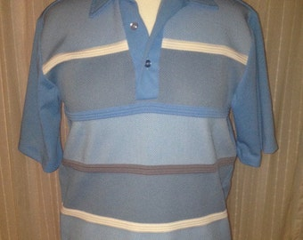 Cool Marina Of California 1960's Men's Knit Shirt