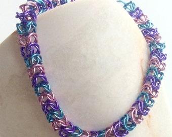 Sweet pastel boxchain bracelet