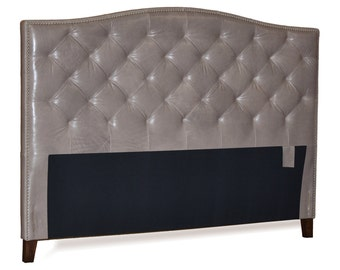 Wall Mounted Queen Size Extra Tall Headboard Upholstered In