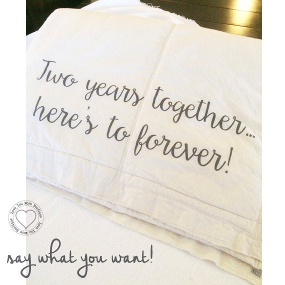 items similar to 2nd year cotton anniversary blanket