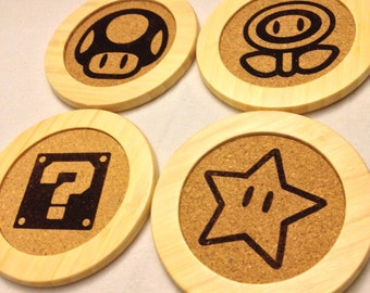 Set of 4 Super Mario Icon Coasters