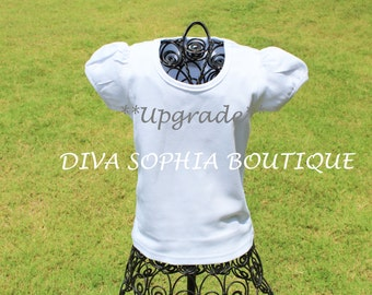 UPGRADE - Puff Sleeve Ruffle Tee