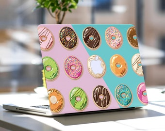 Eat Donuts for Breakfast Vinyl Skin Decal for Macbook Air & Macbook Pro and Macbook Pro Retina (All Models)