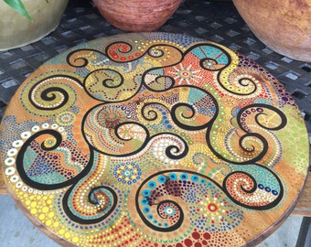 Lazy Susan turn table with my artwork