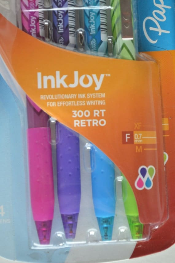 Papermate inkjoy rt retro click ball point pens in