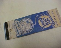 Vintage Match Book Cover Advertising Item Circa 1950's Stewart Beach Park Galveston Texas