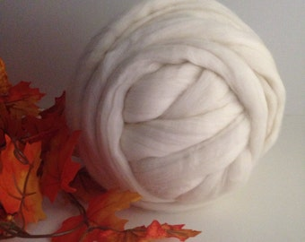Merino 64s Combed Top - Natural Ecru Undyed - One Pound