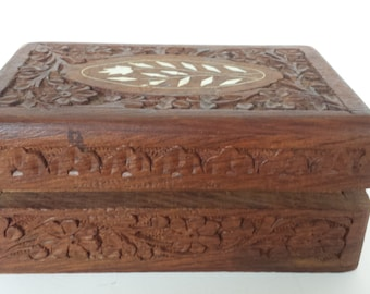 Carved Box from India