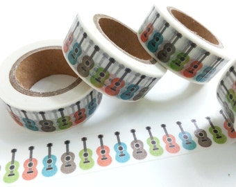 Lovely Guitar Washi / Masking Tape - 10M