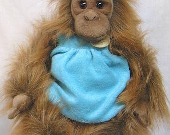 Vintage Stuffed Plush Toy Orangutan Monkey Myoni by Aurora