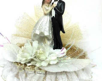 Wedding Couple Cake Topper or Centerpiece Keepsake or Gift