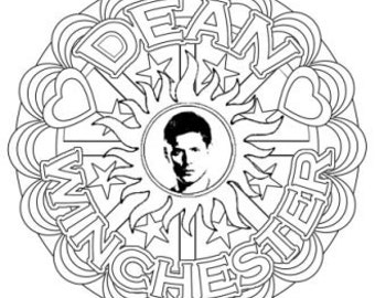 Supernatural Dean Winchester Mandalas - Grown-up Colouring!!!