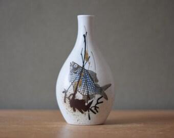 Royal Copenhagen - vase - fish motif - 1046/5144 - DIANA series - Thorsson - midcentury