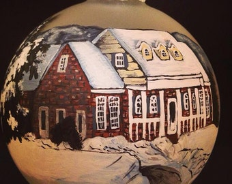 Personalized hand painted house ornaments