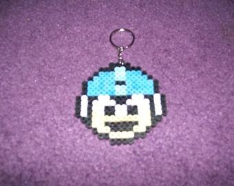 Megaman Life keychained perler sprite