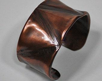 Hand Forged Copper Cuff Bracelet, Copper Bracelet, Artisan Cuff Bracelet, Bronze Copper Cuff, Wide Cuff, Copper Bangle, Copper Jewelry