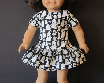 Glow-in-the-Dark HALLOWEEN GHOST DRESS with Ruffles fits American Girl
