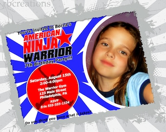 American Ninja Warrior Party Obstacle Course Signs By