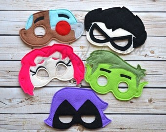 Teen Titans inspired masks(Please note the shipping time frame!)