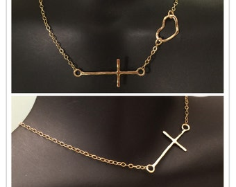 14k cross necklace