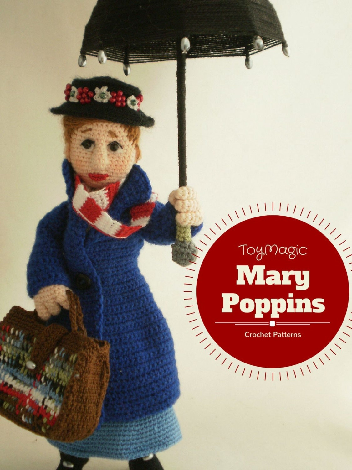 mary poppins crochet pattern toymagic pdf instant download