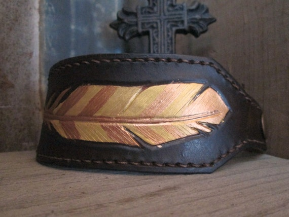 Leather Cuff, Leather Bracelet, Western Leather Cuff Bracelet, Cuff, Leather Cuff Bracelet