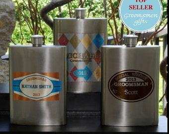 Personalized Wingman's Flasks (GC975)