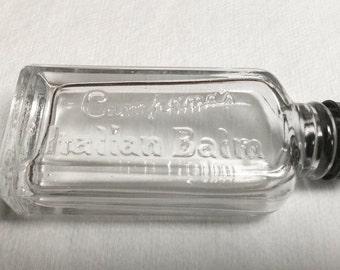 Vintage RARE Campana's Italian Balm Bottle with Top America's #1 Skin Protector