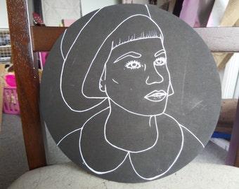 "Acrylic painting on board, ""Seek"""