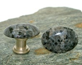 Larkavite Oval Cabochon Cabinet Knobs or Drawer Pulls - stone knobs, stone knobs, kitchen, bathroom, South West