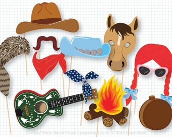 Western Photo Booth Props, Wild West, Rodeo, Cowboy, Cowgirl, Cactus, Party Centerpiece, Party Photo Booth, Foto Booth, Photobooth Props