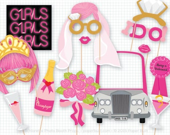 Bachelorette Party Photo Booth Props, Photobooth Props, Girls Night Out, Hen Party, Bridal Shower, Bride To Be, Bridesmaids, Girlfriends