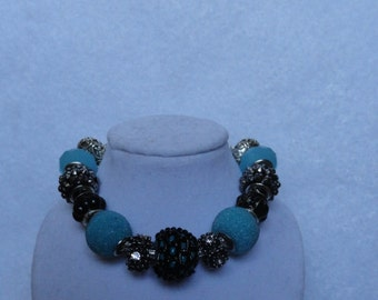Blue Punk European Charm Bracelet