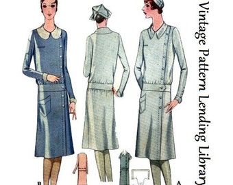 1929 Ladies Service Or Nurse's Uniform - Reproduction Sewing Pattern #Z5805