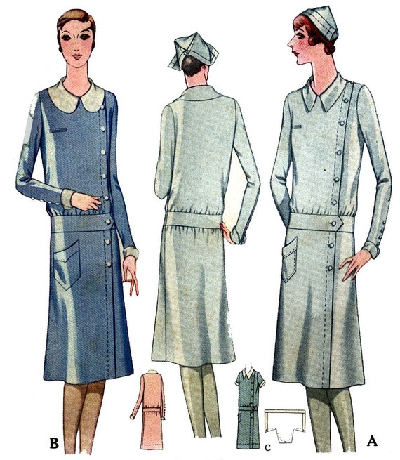 1920s Patterns – Vintage, Reproduction Sewing Patterns 1920s Ladies Service Or Nurses Uniform - Reproduction Sewing Pattern #Z5805 $15.50 AT vintagedancer.com
