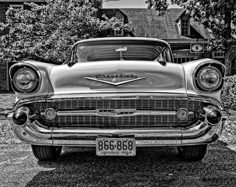 Classic Car Photography, Old Chevy Photo, Vintage Car, Man Cave, Manly Decor, Car Enthusiast, Gift for Him,Garage Decor, Chevrolet Auto