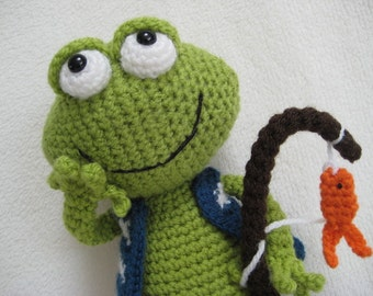 Amigurumi Frog Jimmy Toy Doll Animal Crochet Pattern PDF