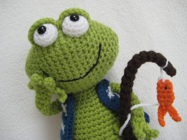 Amigurumi Frog Jimmy Toy Doll Animal Crochet Pattern PDF