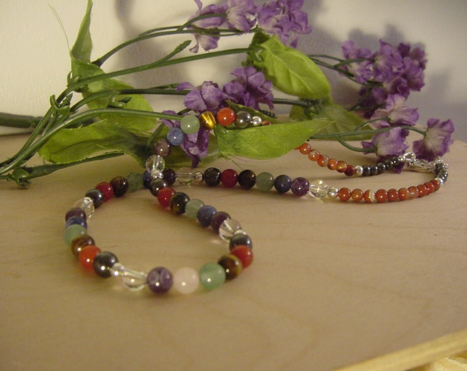 Chakra Necklace Sterling Silver, Reiki, Semi Precious, Energy Balance, Harmonize, Reiki, Chakra Jewelry Trending