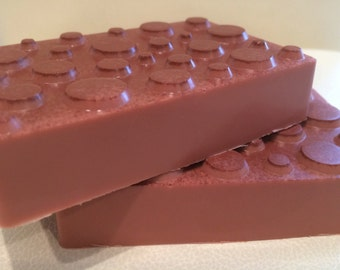 French Rose Clay Massage Soap Bar- SPA Face & Body- 4 oz