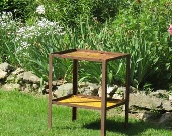 Super Sweet Heavy Metal Rusty Crusty Industrial Table Shelf