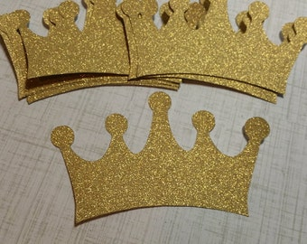 Large, Shimmer Gold Crowns. 4 inches.  #Pet-5