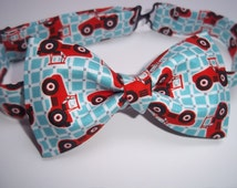 Tractor Bow Tie-Tractor-School Pictures-Birthday Party Bow Tie-Boy's Bow Tie