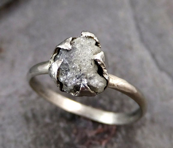 RESERVED for Dylan Raw Rough UnCut Diamond Engagement Ring