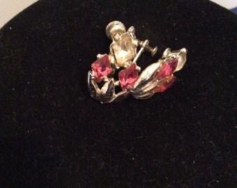 Screw on earrings with gems 1 in