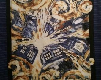 Dr Who Exploding Tardis Double Layer Fleece Blanket
