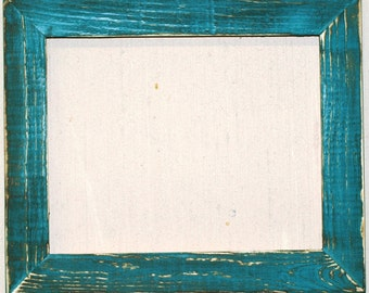 "1-1/2"" Aqua Distressed Picture Frame"