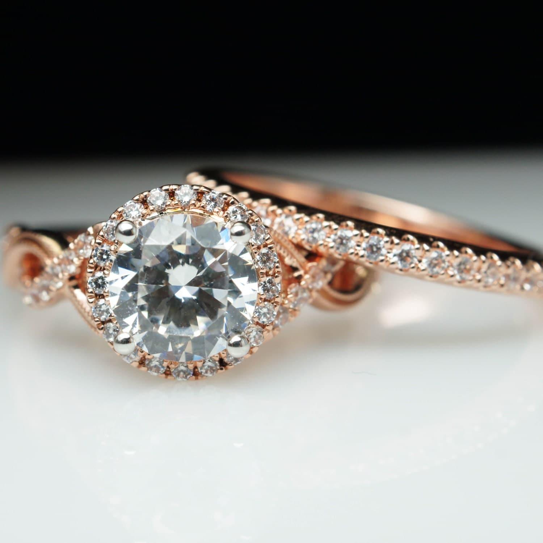 halo engagement ring wedding band set infiniti